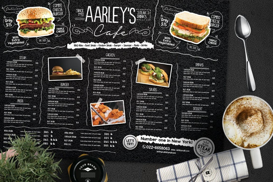 Asphalt Food and Drink Menu Template