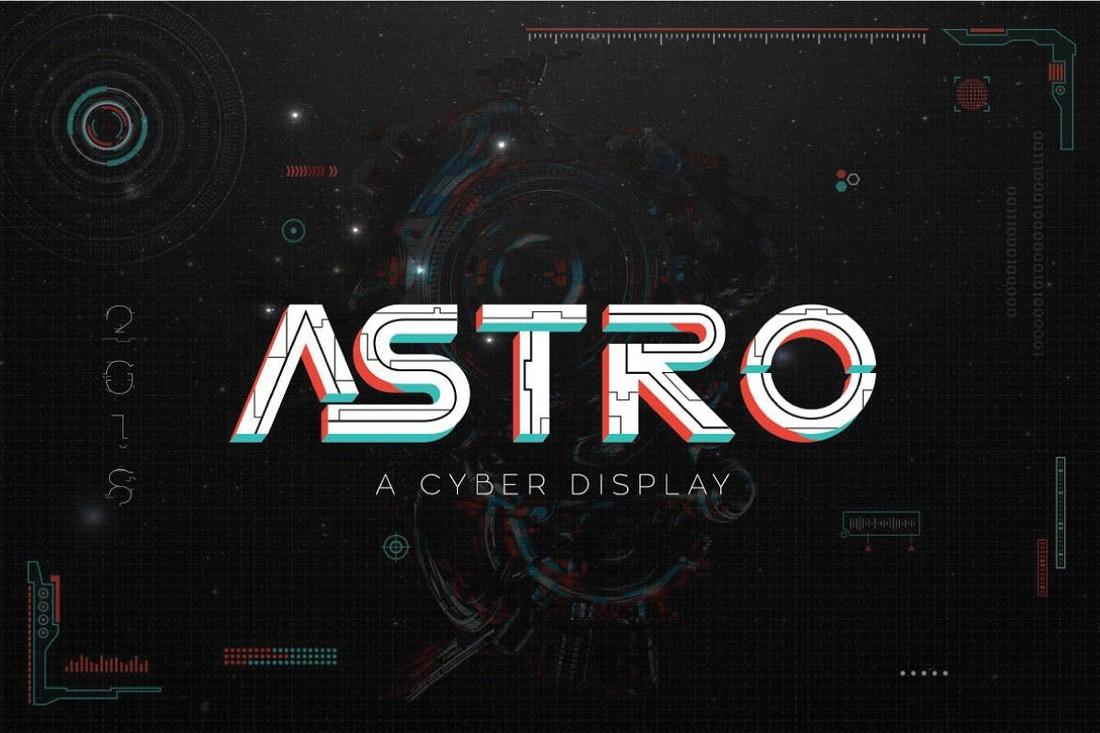 Astro - Futuristic Cyberpunk Font
