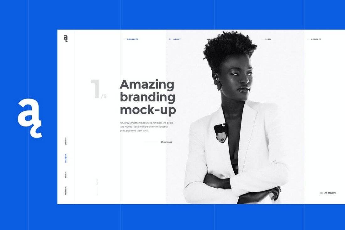 Atail – Unique Portfolio Template