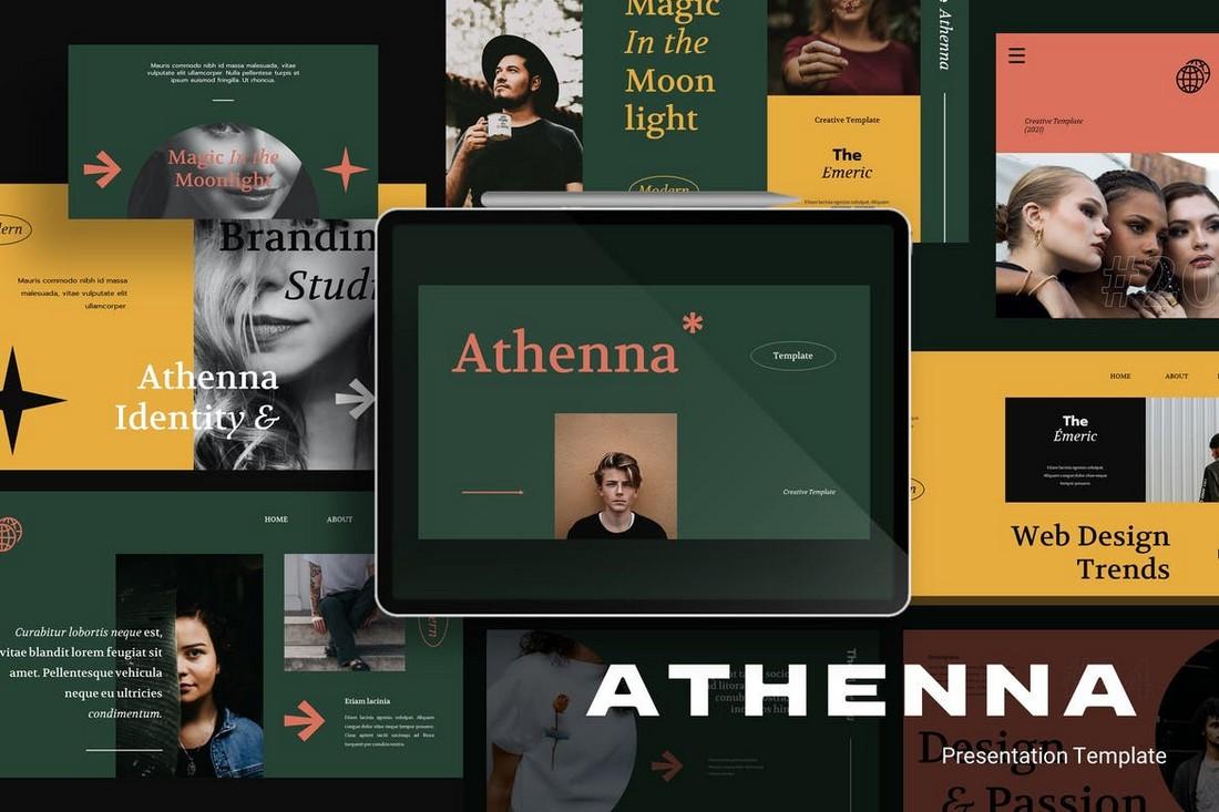 Athenna - Elegant Portfolio Powerpoint Template