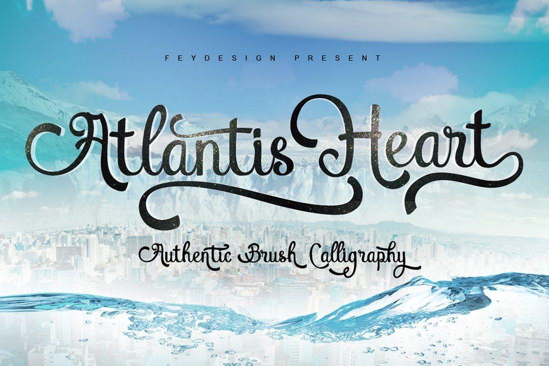 Atlantis-Heart-Font 30+ Best Fonts for Logo Design design tips