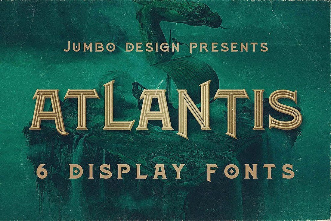 Atlantis 25+ Best Monogram Fonts design tips