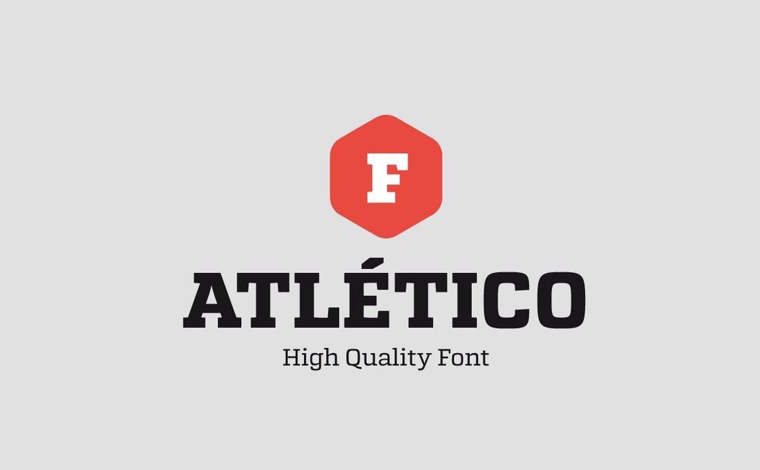 Atletico - Free Slab Serif Font
