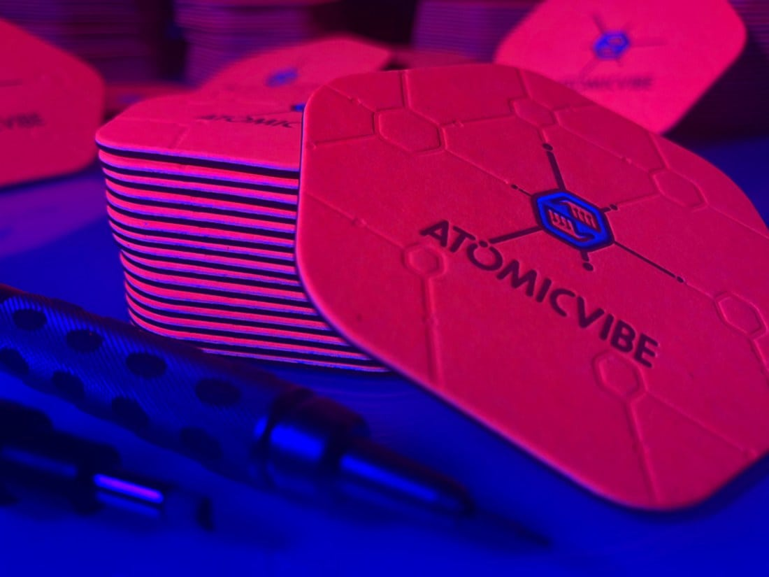 Atomic Vibe Letterpress Business Card