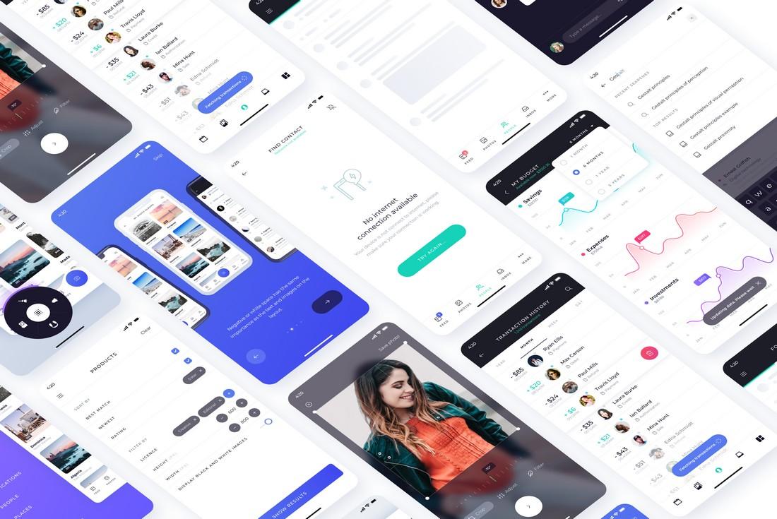 Atro - Free Mobile UI Kit for Figma