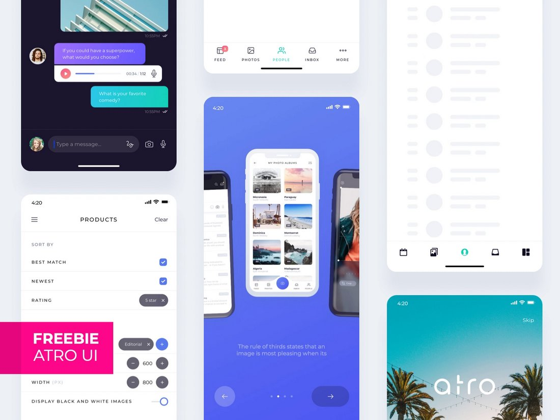 Atro - Sketch & Adobe XD Mobile UI Kit