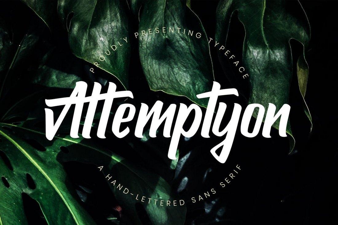 Attemptyon-Modern-Sans-Serif-Typeface 50+ Best Condensed & Narrow Fonts of 2020 design tips