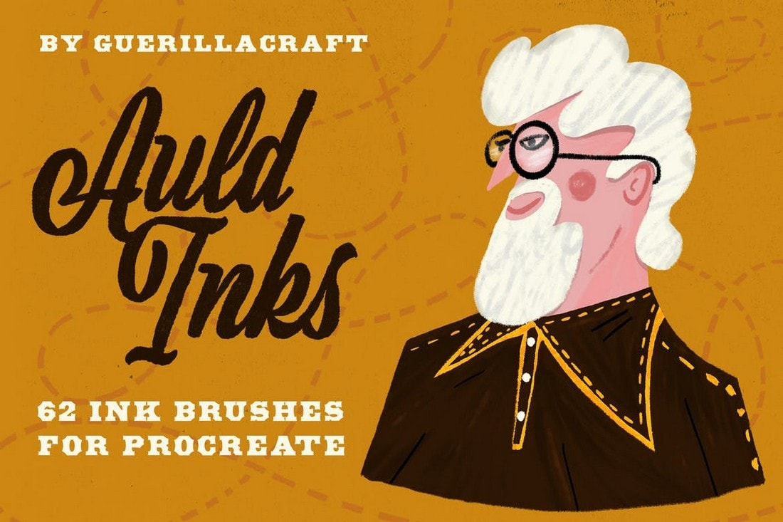 Auld-Inks-Brushes-for-Procreate 30+ Best Procreate Brushes 2020 (Free & Pro) design tips