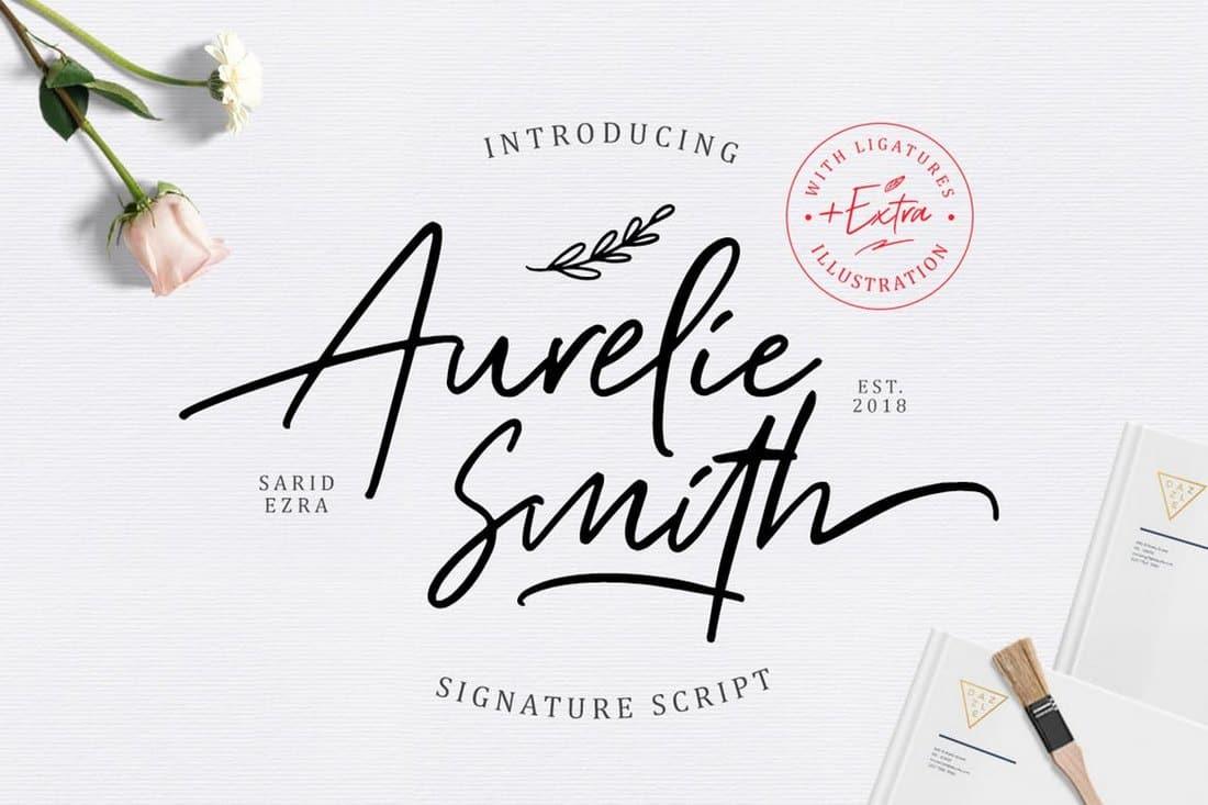 Aurelie Smith - Signature Font
