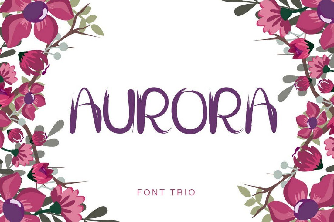 Aurora-Brush-Font-Trio 30+ Best Fonts for Logo Design design tips