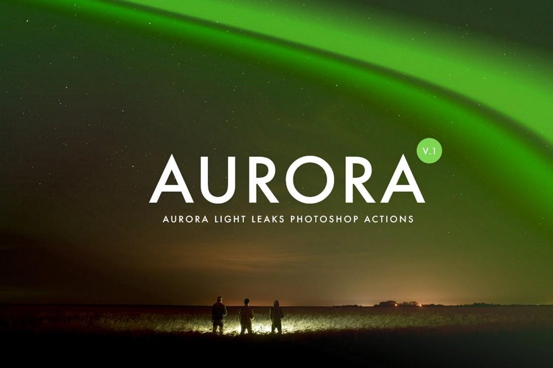 Aurora Light Effect Photoshop Actions