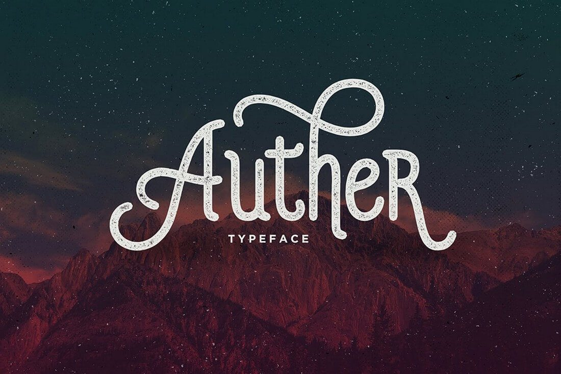 Auther-Typeface 60+ Best Big, Poster Fonts of 2021 design tips