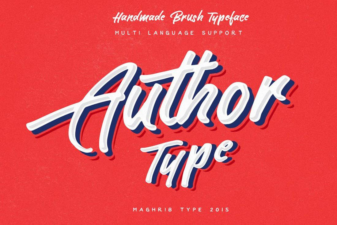 Author-Type-Brush-Script-Font 30+ Best Fonts for Signs design tips  Inspiration