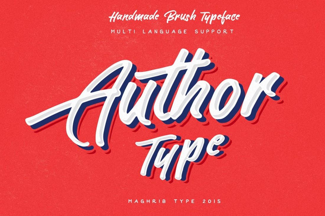 Author Type - Handmade Brush Font