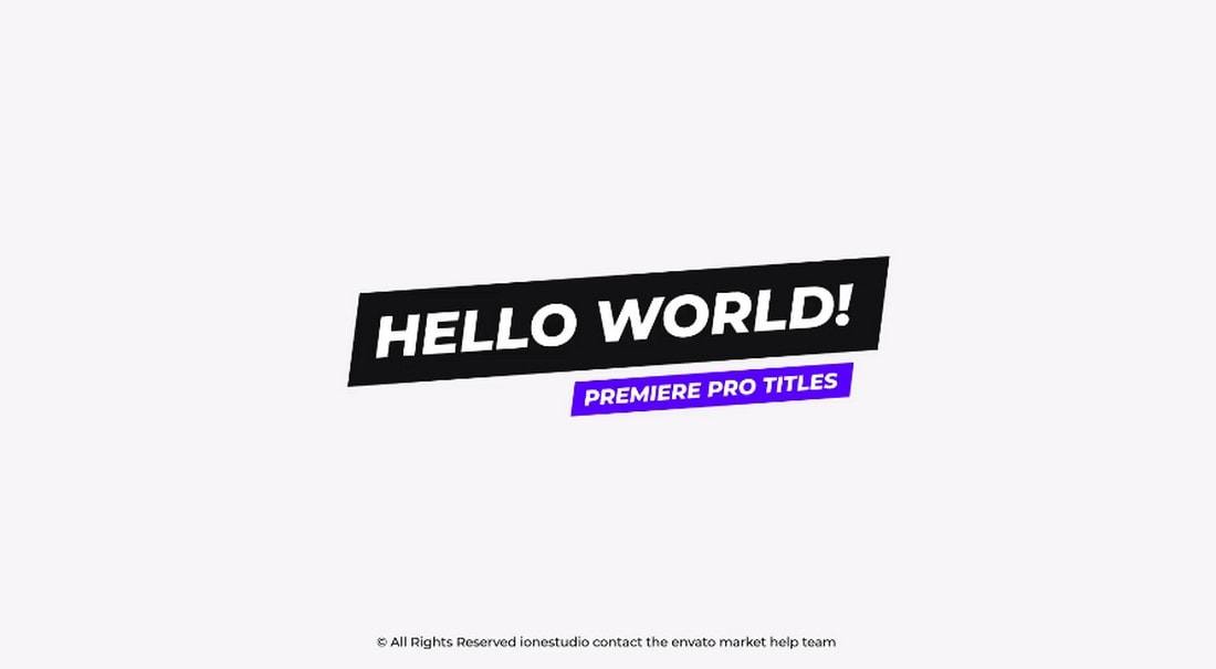 Autoresizing Titles - Premiere Pro Templates