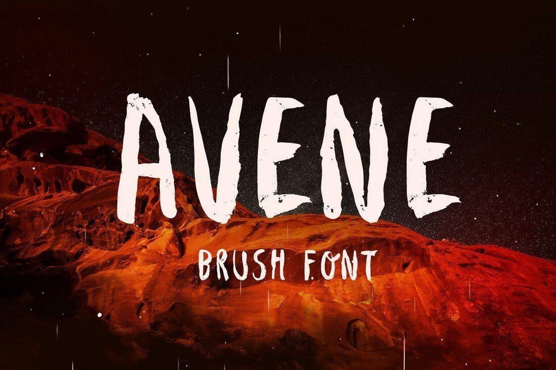 Avene-Brush-Font 60+ Best Big, Poster Fonts of 2019 design tips