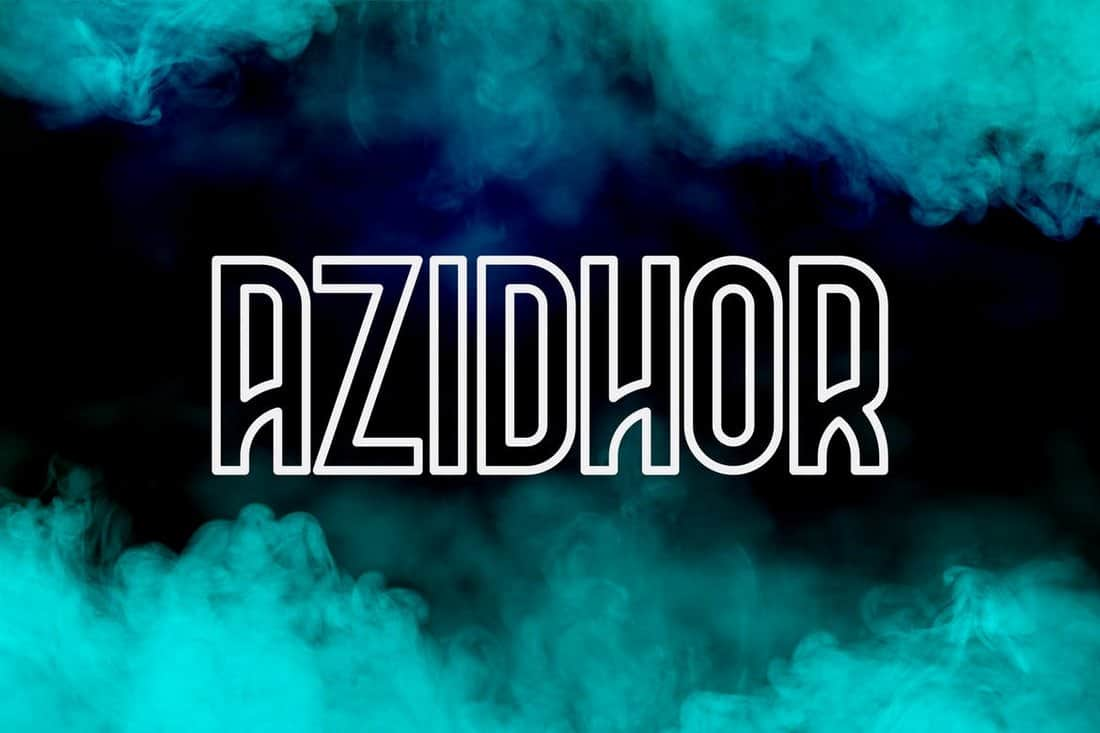 Azidhor - Unique Outline Font