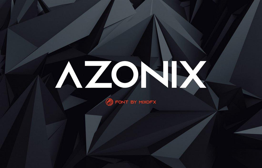 Azonix - Free Modern Logo Font