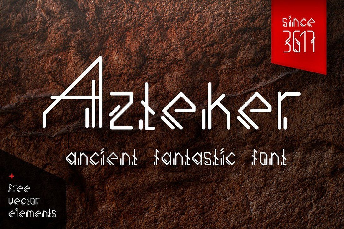Azteker-Ancient-Logo-Font 30+ Best Fonts for Logo Design design tips