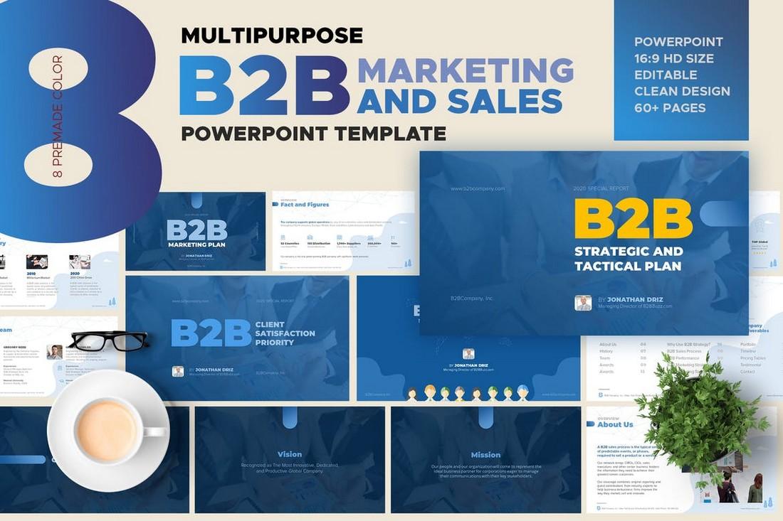B2B Marketing & Sales PowerPoint Template