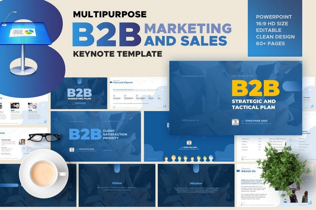 B2B-Marketing-and-Sales-keynote-template 50+ Best Keynote Templates of 2021 design tips