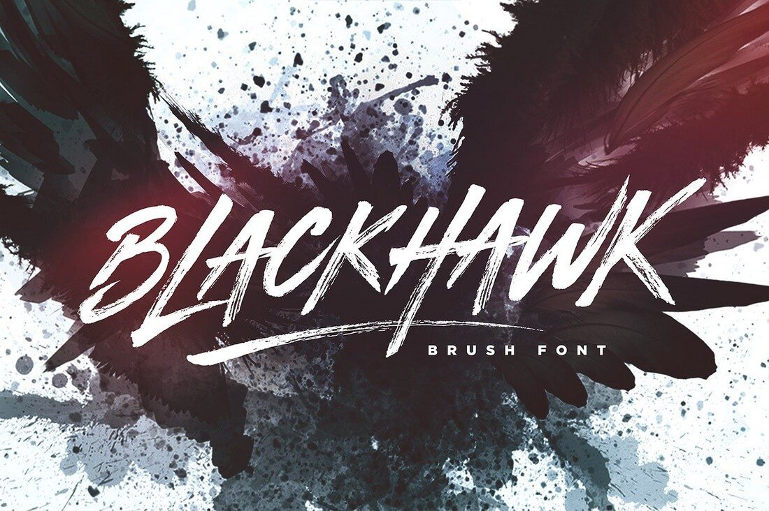 BLACKHAWK-Brush-Font 100+ Beautiful Script, Brush & Calligraphy Fonts design tips