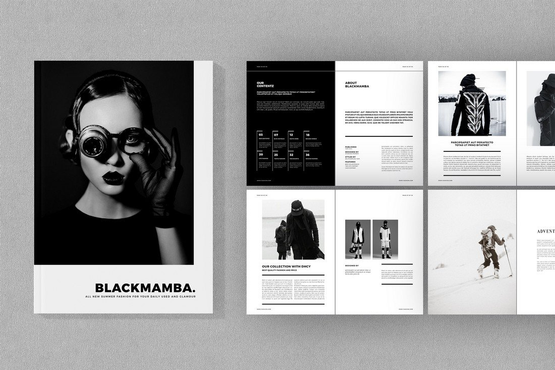 BLACKMAMBA - Free Minimal Lookbook Template