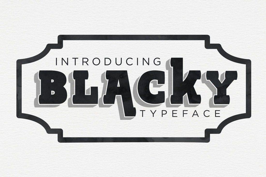 BLACKY-Typeface 60+ Best Big, Poster Fonts of 2019 design tips