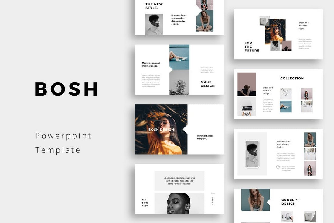BOSH-Minimal-PowerPoint-Template 20+ Simple PowerPoint Templates (With Clutter-Free Design) design tips  Inspiration|powerpoint