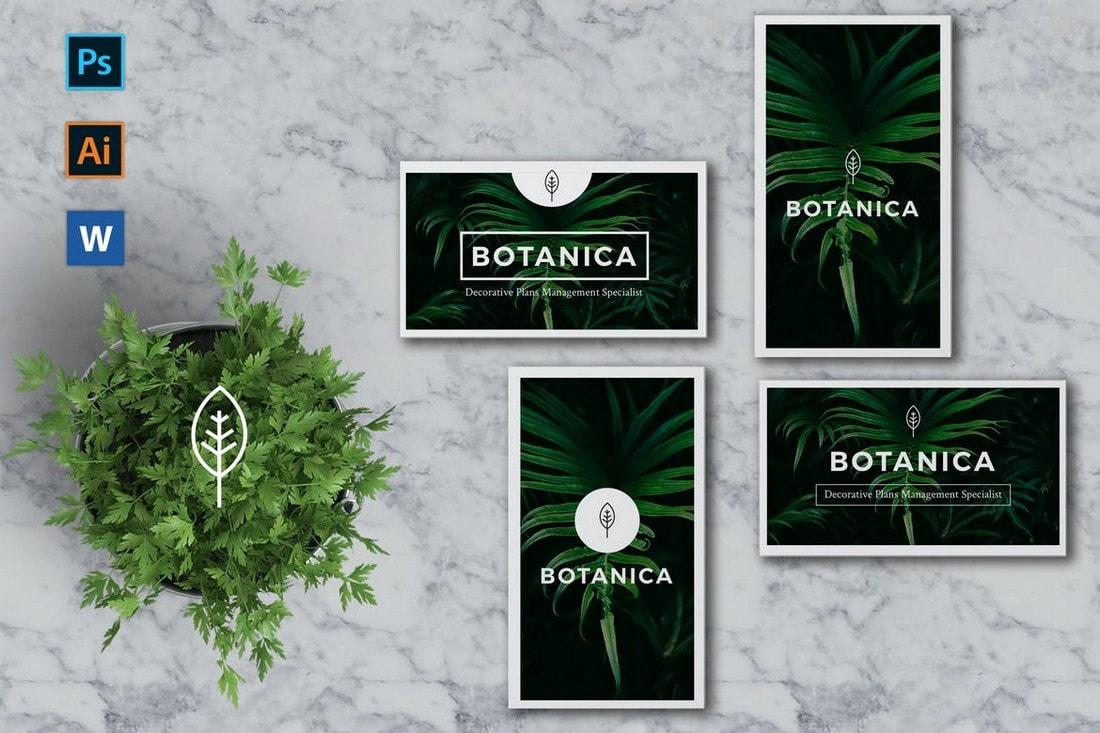 BOTANICA-Business-Card-Template 20+ Business Card Templates for Google Docs (Free & Premium) design tips