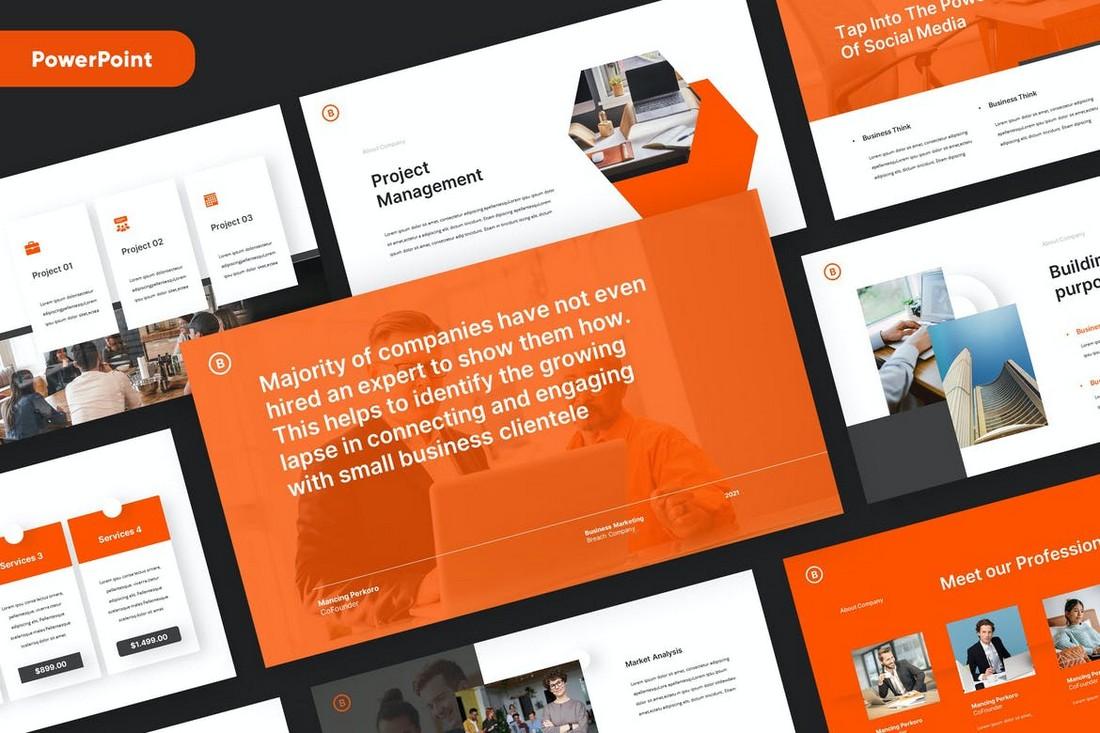 BREACH - Business Pitch Deck Powerpoint Template