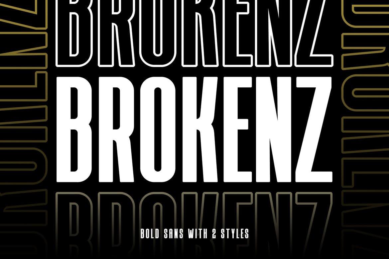 BROKENZ - Bold Block Font