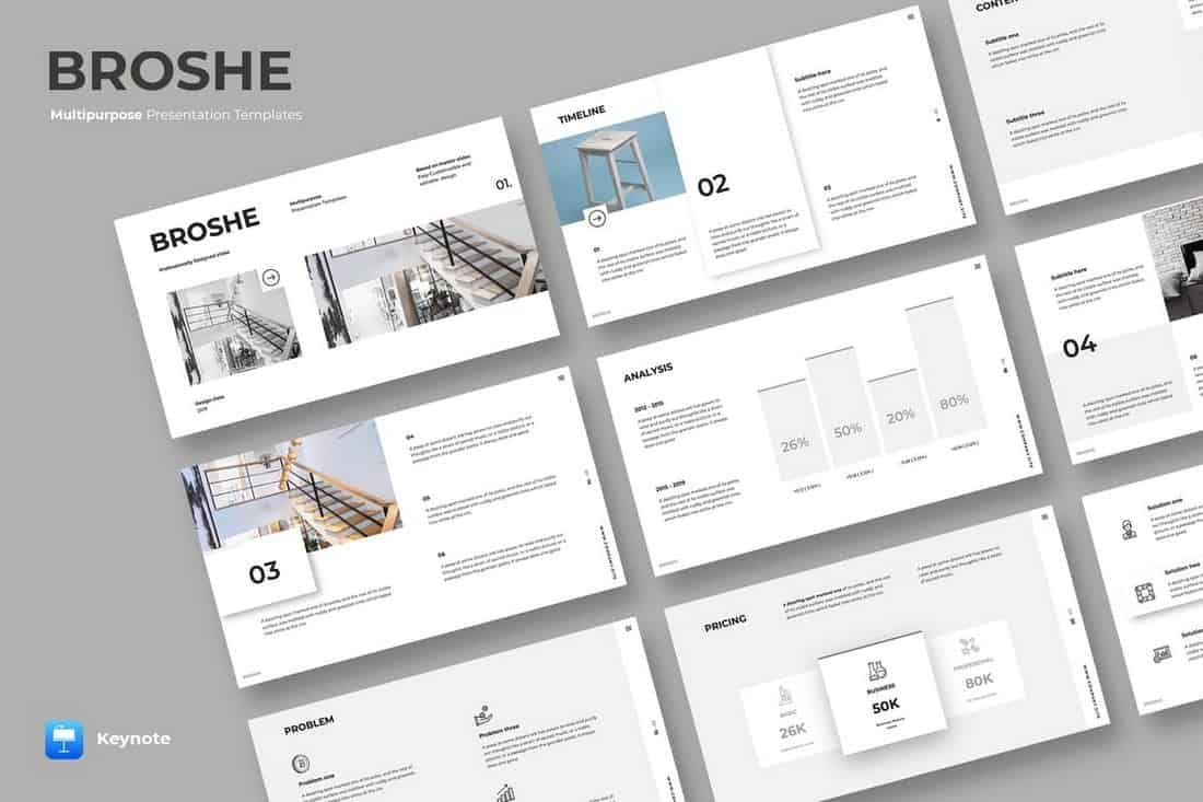 BROSHE - Keynote Template