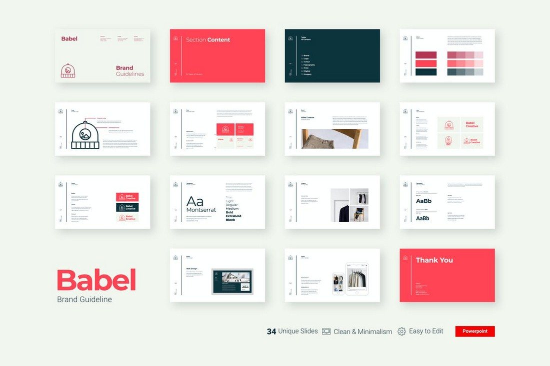 Babel-Minimal-Animated-Powerpoint-Template 30+ Animated PowerPoint Templates (Free + Premium) design tips
