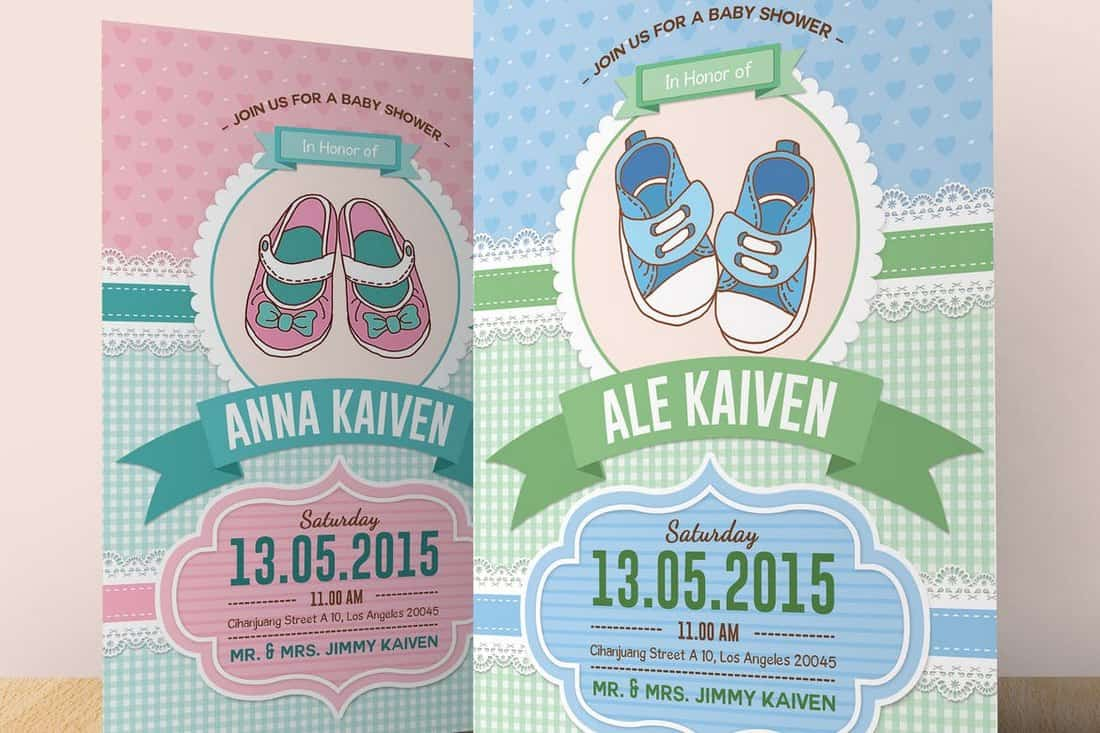 Baby Shower Invitation (Boy & Girl)