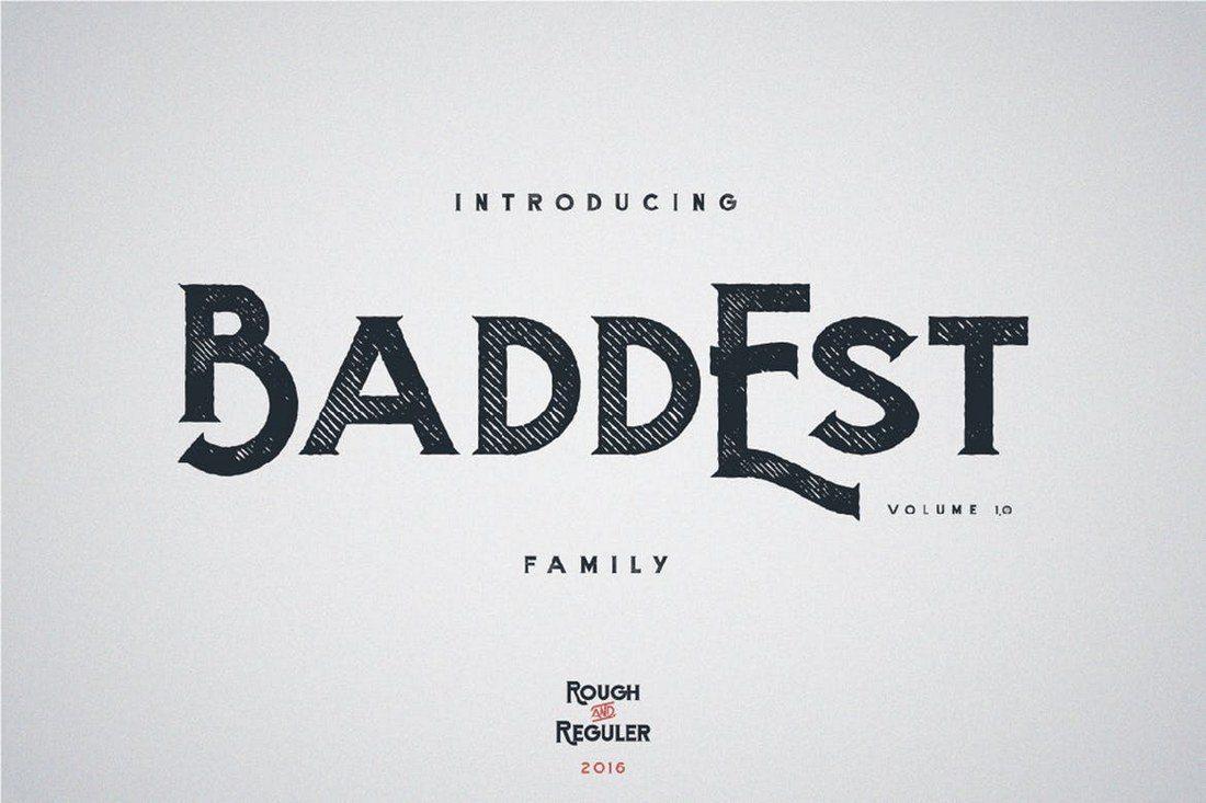 Baddest-typeface 25+ Best Monogram Fonts design tips