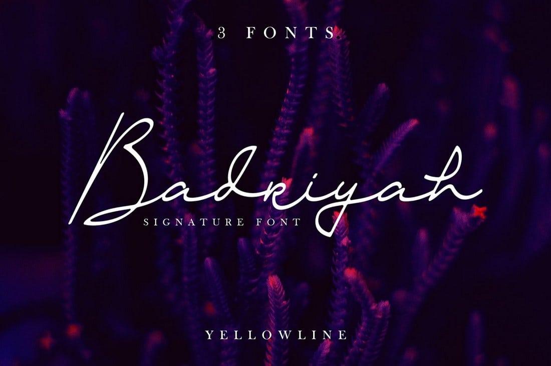 Fuentes cursiva elegantes:  Badriyah Script