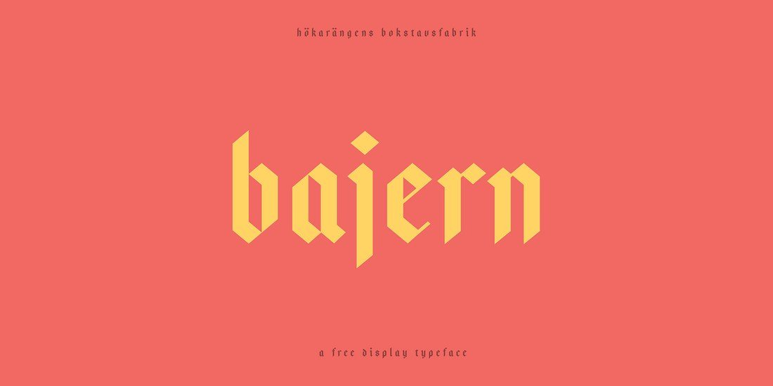 Bajern Is A Display Typeface Featuring Blackletter Script Its Ideal For Crafting Logos Posters CD Covers Album Art And Much More