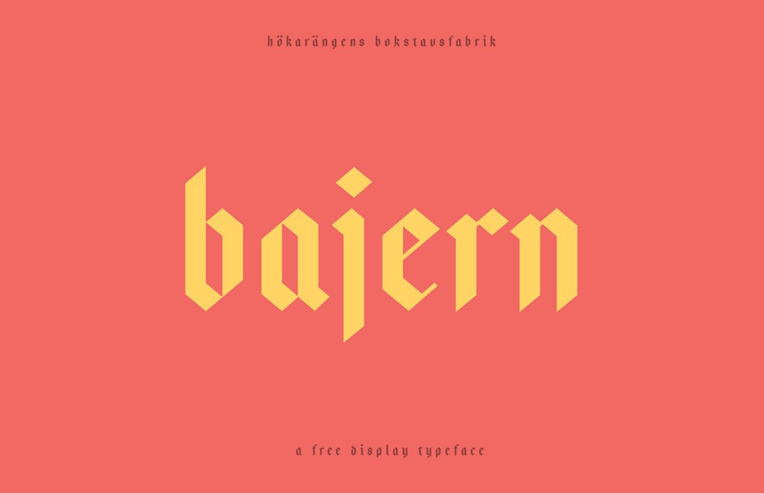 Bajern - Free Gothic Display Font