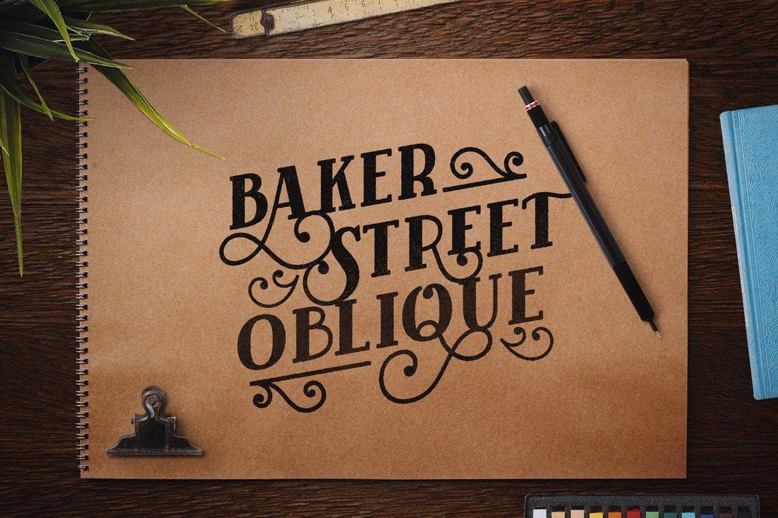 Baker-Street-Black-Oblique 25+ Best Monogram Fonts design tips