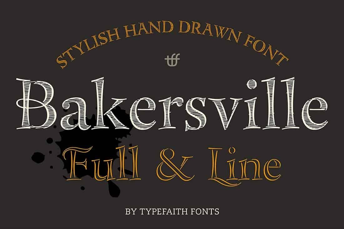 Bakersville - Handmade Chalk Font