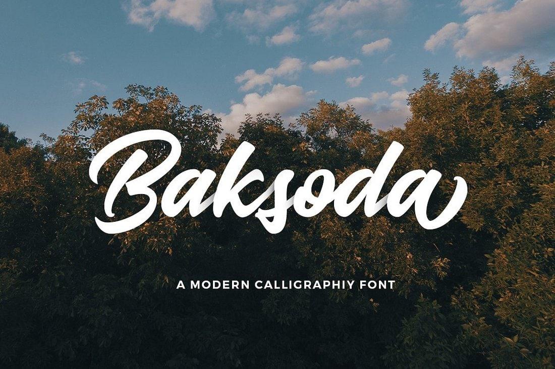 Baksoda - Free Modern Calligraphy Font