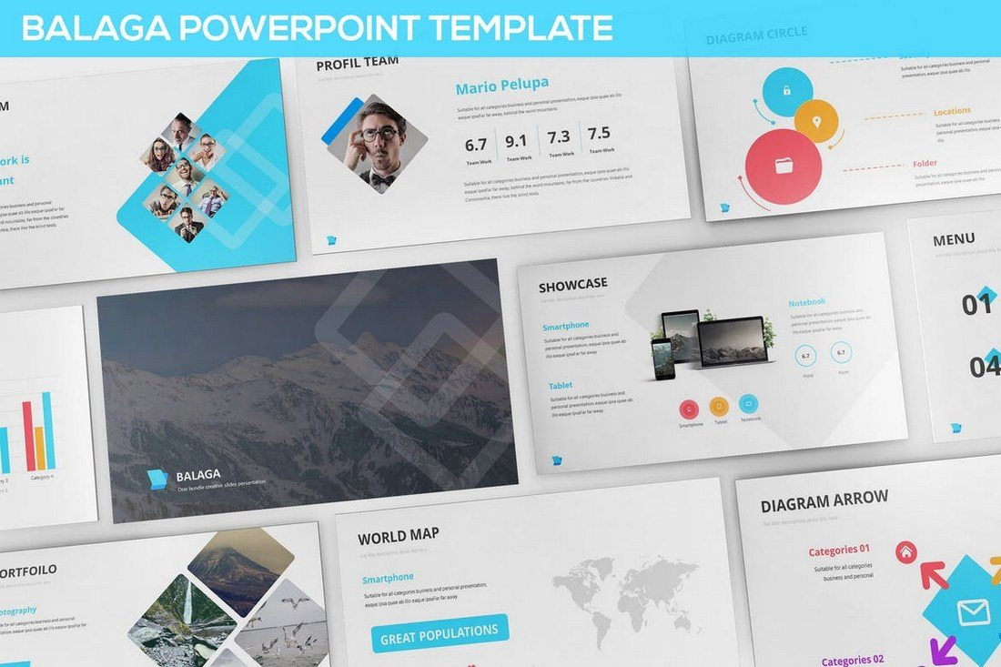 30 best powerpoint templates of 2018 design shack balaga is a professional powerpoint template you can use to create marketing and creative business presentations it features 25 unique slides in 3 wajeb Choice Image