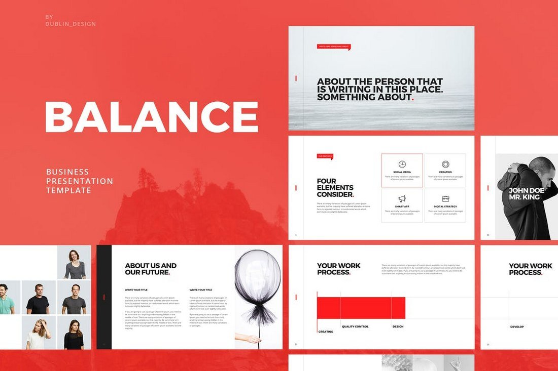 Balance - Clean Powerpoint Template