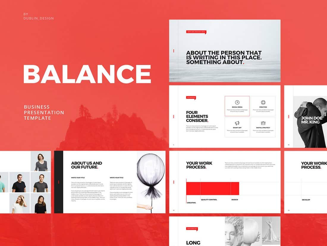 Balance - Free Minimal PowerPoint Template