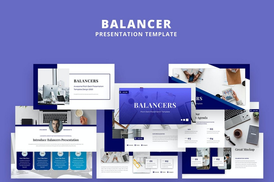 Balancer-Business-PowerPoint-Presentation-Template 40+ Best Company Profile Templates (Word + PowerPoint) design tips