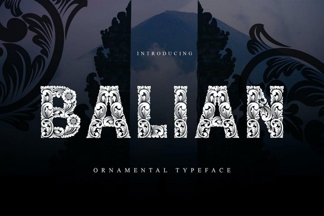 Balian - Unique Ornamental Font