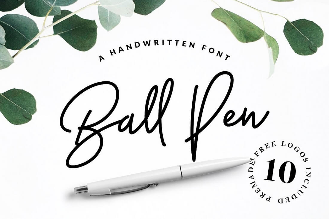 Ball-Pen-Handwritten-Font 100+ Beautiful Script, Brush & Calligraphy Fonts design tips