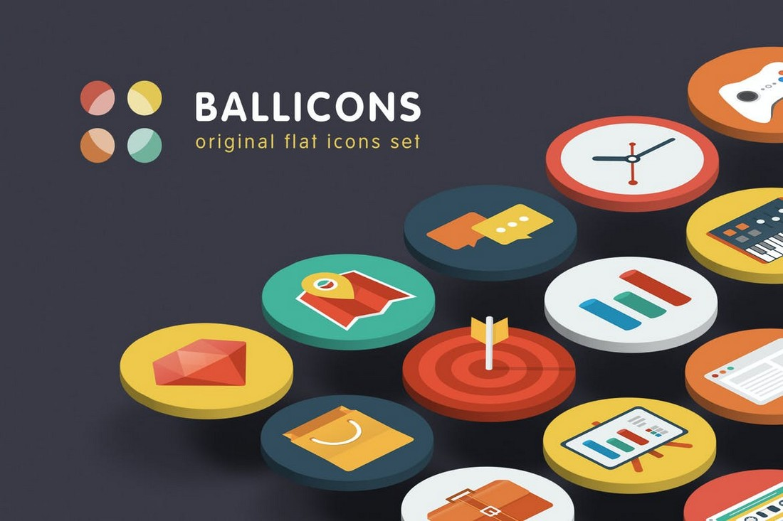Ballicons - Flat Design Adobe XD Icons