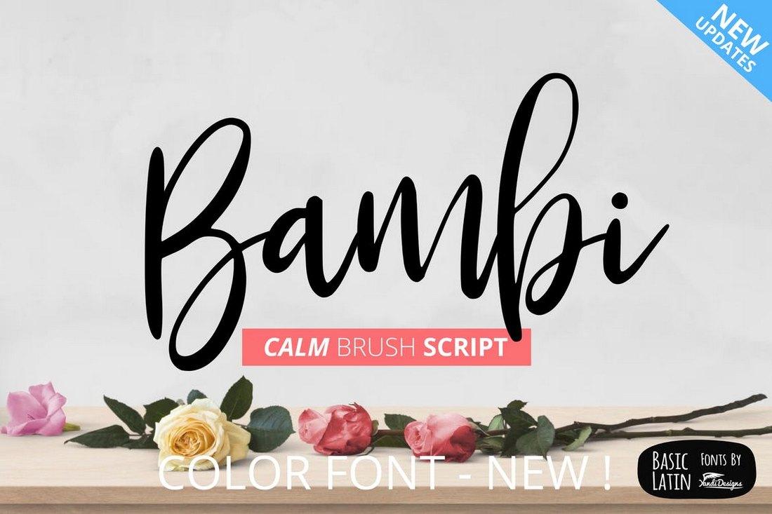 Bambi - Creative Script Fonts